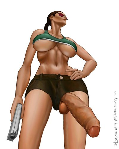 Lara Croft Futanari Mix