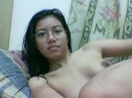 Cute Malaysian student masturbating at home