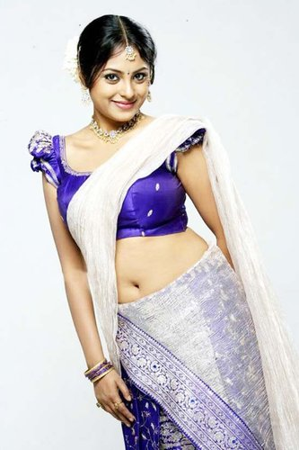 Meenakshi Shows Her Deep Navel And Boobs In Tight Blouse Saree