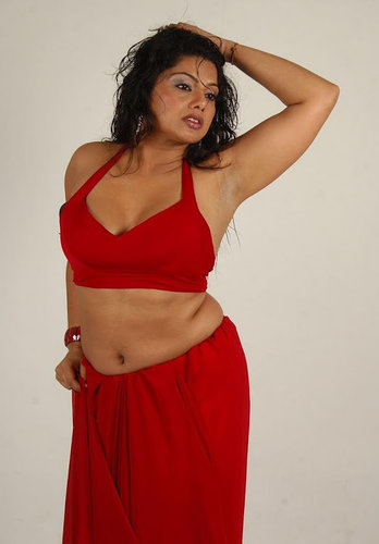 Telugu Hot Swathika Shows Clearly Her Deep Navel And Armpits In Sleeveless Blouse