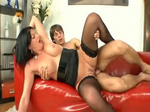 mature rich woman and boy