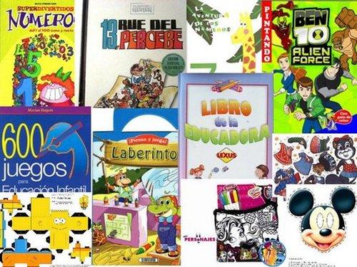 Pack Libros Infantiles ,colorear,recortables,juegos Y